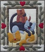 Cat Stack Wallhanging Quilt Kit