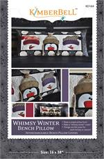 Kimberbell January Winter Whimsy Bench Pillow Sewing PATTERN