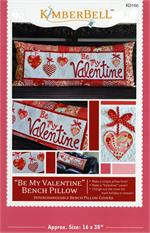 Kimberbell February Be My Valentine Bench Pillow Sewing PATTERN