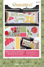 Kimberbell April Welcome Spring Bench Pillow Sewing PATTERN