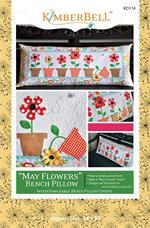 Kimberbell May Flowers Bench Pillow Sewing PATTERN