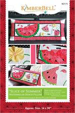 Kimberbell June Slice of Summer Bench Pillow Sewing PATTERN