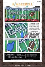 Kimberbell Bench Pillow PATTERN - Game On