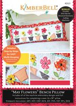 Kimberbell May Flowers Bench Pillow - Machine Embroidery CD