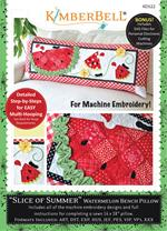 Kimberbell June Slice of Summer Bench Pillow - Machine Embroidery CD