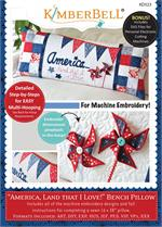 Kimberbell July America Bench Pillow - Machine Embroidery CD