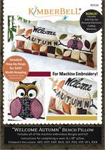 Kimberbell September Welcome Autumn Bench Pillow - Machine Embroidery CD