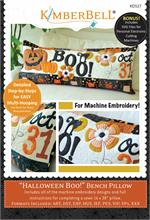 Kimberbell October Halloween Boo Bench Pillow - Machine Embroidery CD