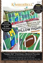 Kimberbell Bench Pillow Machine EMBROIDERY CD - Game On