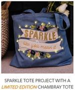 Kimberbell Fill-In-the-Blank January - CHAMBRAY TOTE and FREE Sparkle Design