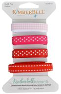 Kimberbell Ribbon Assortment - Reds and Pinks