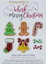 KDKB167 Kimberbell BUTTON SET - We Whisk You a Merry Christmas