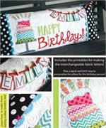 Kimberbell Bench Pillow Kit (Pre-cut & Pre-fused Appliques) - Happy Birthday!