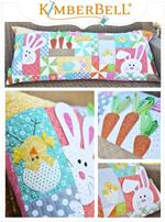 Kimberbell Bench Pillow Kit - Hoppy Easter (Pre-Cut & Fused Appliques are Sew & Embroidery Compatible)