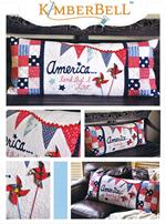 Kimberbell Bench Pillow Kit - America - July - Pre-cut & Pre-fused Appliques!