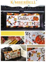 Kimberbell Bench Pillow PATTERN - November Gather Together - Pre-cut & Pre-fused Appliques
