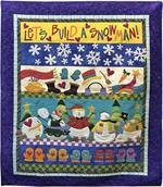 Let's Build A Snowman Quilt Kit - Includes Pre-fused & Pre-cut Appliqués