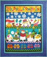 Let's Build A Snowman Quilt Kit - Includes Pre-fused & Pre-cut Appliqués!