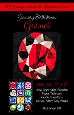 MJ Kinman Birthstone PATTERN Series - JANUARY  Garnet