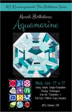 MJ Birthstone PATTERN Series - MARCH Aquamarine