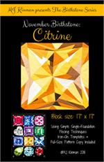 MJ Birthstone PATTERN Series - NOVEMBER Citrine