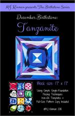 MJ Birthstone PATTERN Series - DECEMBER Tanzanite