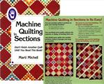 Machine Quilting in Sections Book by Marti Michell