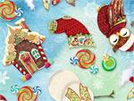 Hoffman Digital Fabric - Enchanted Ornaments - Spearmint Whimsy
