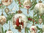 Hoffman Digital Fabric - Enchanted Ornaments - Vintage Globes