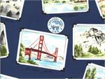 Hoffman Digital Fabric - National Parks Centennial - Blue
