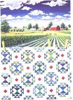 Corn and Beans Quiltscapes Notecard Set