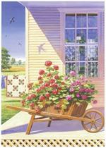 Geraniums Quiltscapes Notecard Set