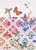 Butterflies on Nine Patches Quiltscapes Notecard Set
