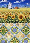 Sunflower Quiltscapes Notecard Se