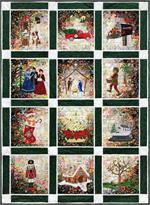 Rachel's Christmas Cards Watercolor Quilt Block-of-the-Month