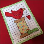 Spoolie Bird Mug Rug Kit - Pre-cut & pre-fused Applique!