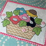 Ivy Flowers Mug Rug Kit - Pre-cut & pre-fused Applique!