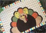 Gobble Gobble! Mug Rug Kit - Pre-cut & pre-fused Applique!