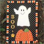 BOO! Mug Rug Kit - Pre-cut & pre-fused Applique!