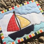 Come Sail Away Mug Rug Kit - Pre-cut & pre-fused Applique