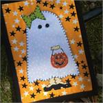 Girly Ghost Mug Rug Kit - Pre-cut & pre-fused Applique!