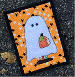 Little Boy Ghost Ghost Mug Rug Kit - Pre-cut & pre-fused Applique!