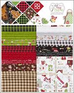 Kimberbell We Whisk You a Merry Christmas 10 x 10 Fabric Square Pack