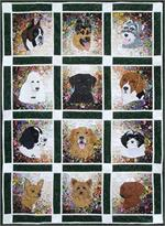 Rachel's Dog Garden Watercolor Quilt Block-of-the-Month