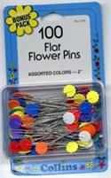 Flower Pin Bonus Pack Size 32 - 2in 100ct