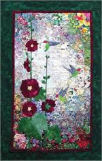 Hummingbird & Hollyhocks Watercolor Quilt Kit