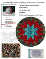 EQ Folded Star Ornament & Bead Kit - Mosaic