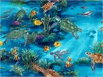 Hoffman Turtle Reef Fabric - Ocean
