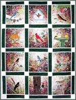 Rachel's Bird Garden Watercolor Quilt Kit