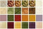 Benartex Rustling Leaves Fabric Charm Pack 5 x 5